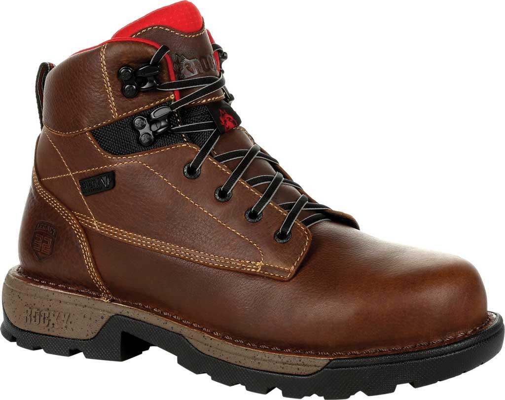 "Men's Rocky Legacy 32 6"" CT Waterproof Work Boot RKK0301, Brown Full Grain Leather, large, image 1"