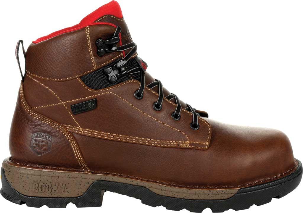 "Men's Rocky Legacy 32 6"" CT Waterproof Work Boot RKK0301, Brown Full Grain Leather, large, image 2"