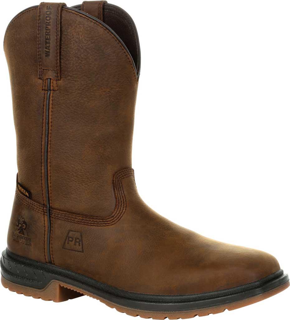 Men's Rocky Worksmart PR Composite Toe Waterproof Boot RKW0325, Brown Full Grain Leather, large, image 1