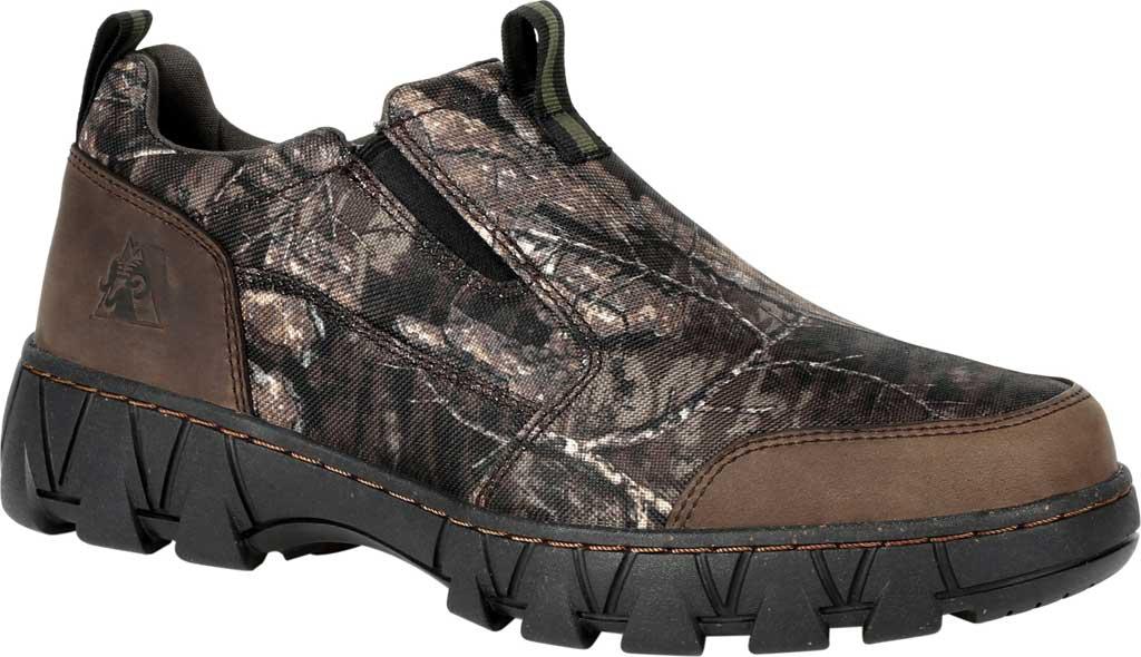 Men's Rocky Oak Creek Camo Slip On Shoe RKS0484, Realtree Timber Nylon/Full Grain Leather, large, image 1