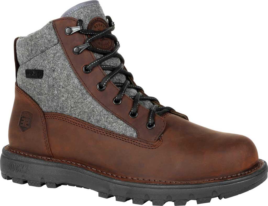 Men's Rocky Legacy 32 Waterproof Outdoor Boot RKS0470, Brown Wool/Full Grain Leather, large, image 1
