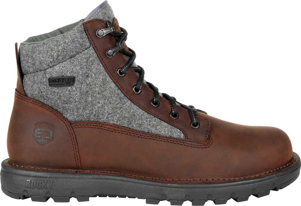 Men's Rocky Legacy 32 Waterproof Outdoor Boot RKS0470, Brown Wool/Full Grain Leather, large, image 2