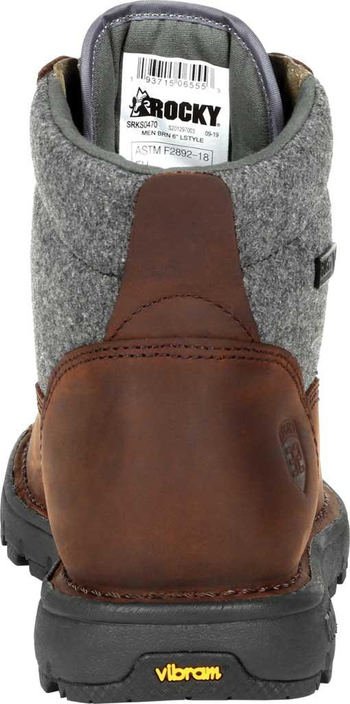 Men's Rocky Legacy 32 Waterproof Outdoor Boot RKS0470, Brown Wool/Full Grain Leather, large, image 4