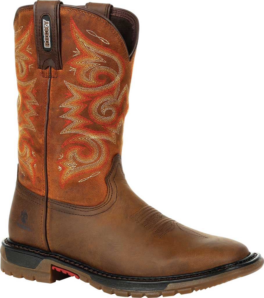 Women's Rocky Original Ride FLX Western Boot RKW0320, Brown/Chestnut Full Grain Leather, large, image 1