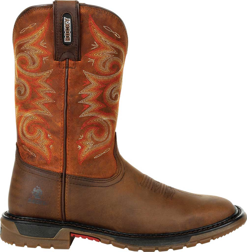 Women's Rocky Original Ride FLX Western Boot RKW0320, Brown/Chestnut Full Grain Leather, large, image 2