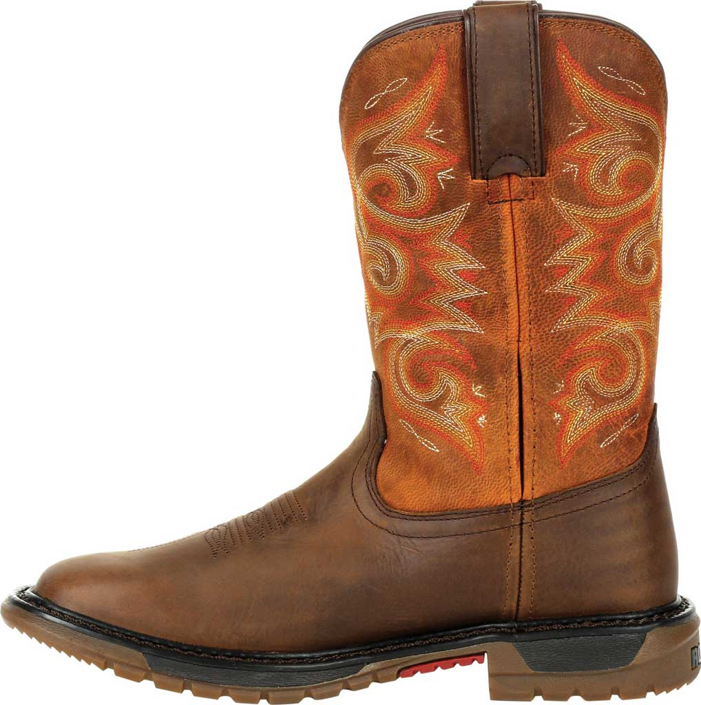 Women's Rocky Original Ride FLX Western Boot RKW0320, Brown/Chestnut Full Grain Leather, large, image 3