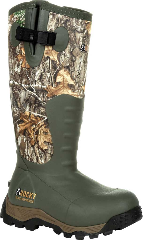 Women's Rocky Sport Pro Insulated Rubber Outdoor Boot RKS0479, Realtree Edge Rubber/Neoprene, large, image 1