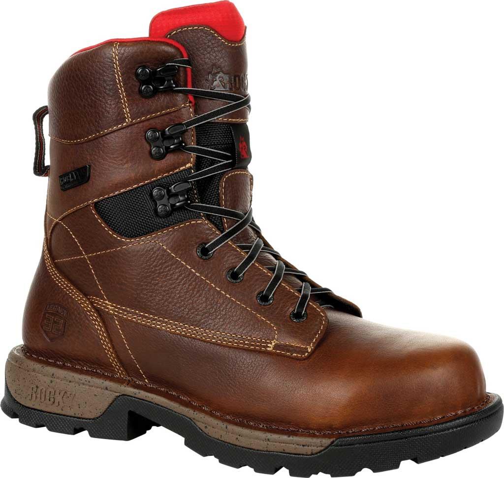 "Men's Rocky Legacy 32 8"" CT Waterproof Work Boot RKK0302, Brown Full Grain Leather, large, image 1"