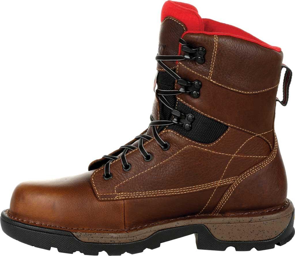 "Men's Rocky Legacy 32 8"" CT Waterproof Work Boot RKK0302, Brown Full Grain Leather, large, image 3"