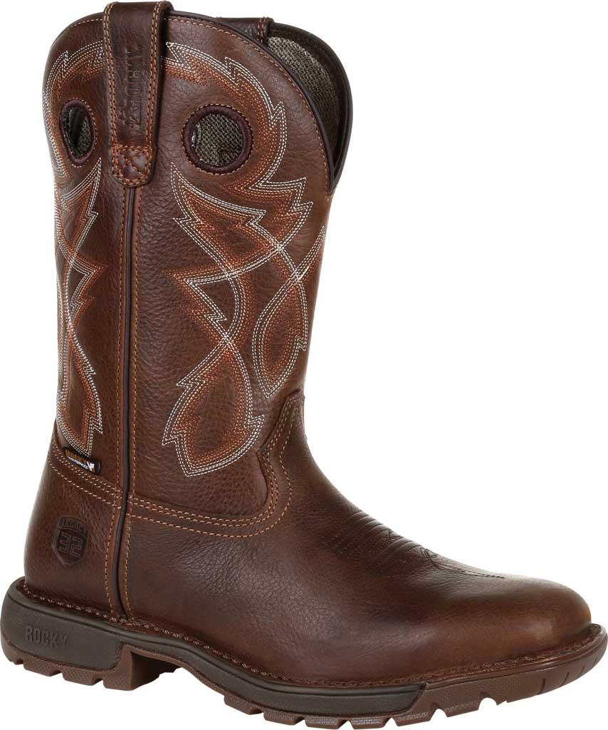 Men's Rocky Legacy 32 Waterproof Western Boot RKW0315, Brown Full Grain Leather, large, image 1