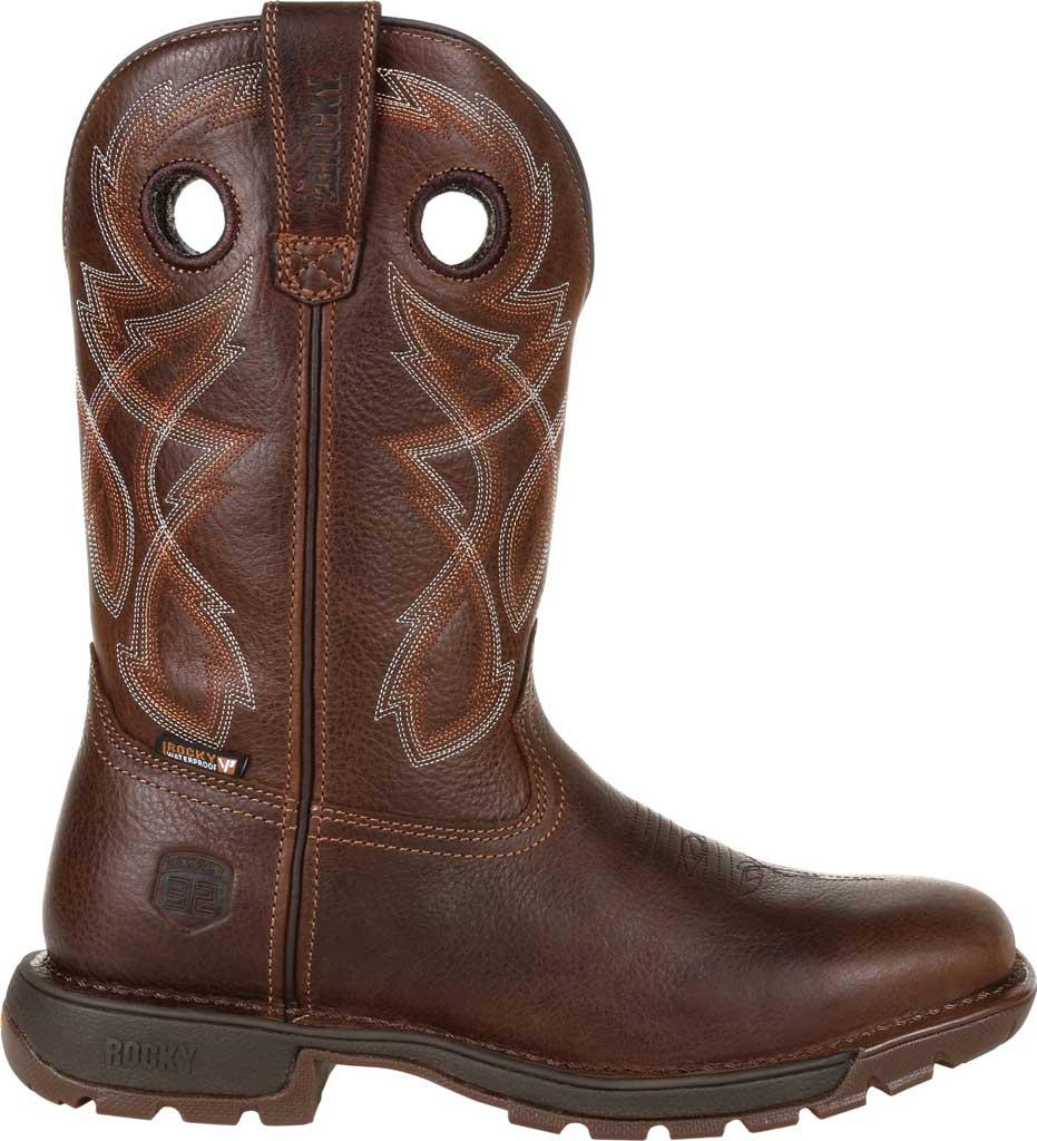 Men's Rocky Legacy 32 Waterproof Western Boot RKW0315, Brown Full Grain Leather, large, image 2