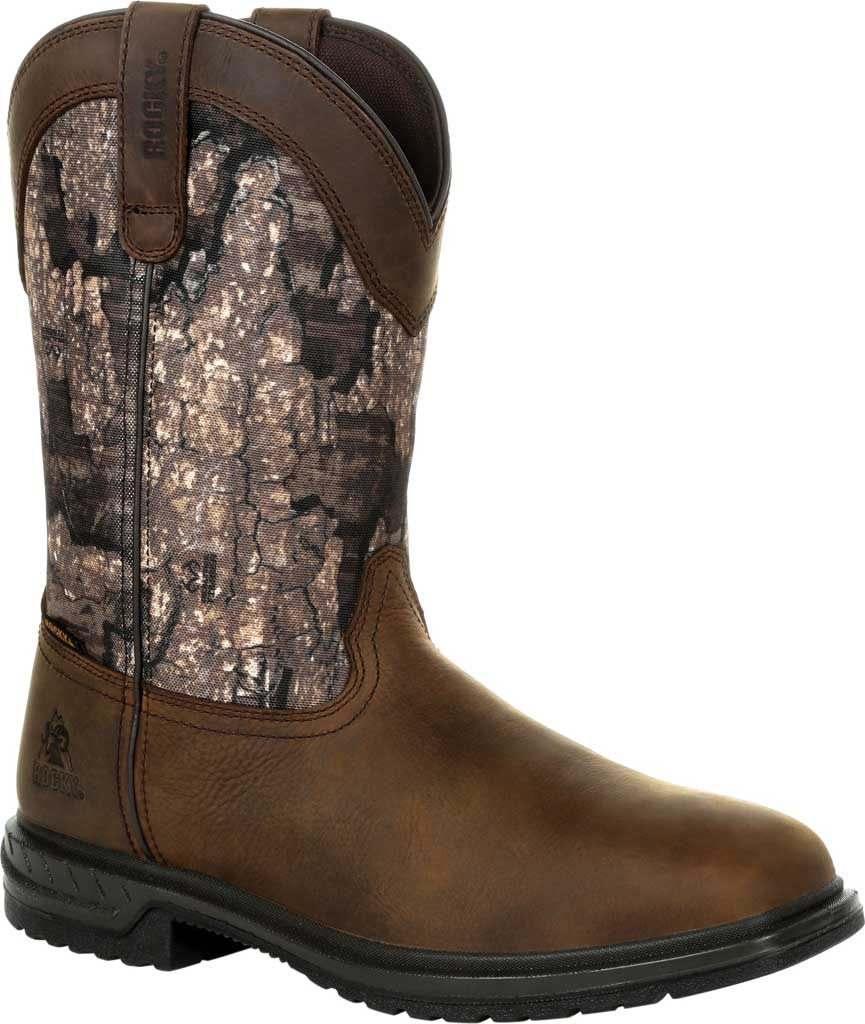 Men's Rocky Worksmart Insulated WP Western Boot RKW0326, Realtree Timber Full Grain Leather, large, image 1