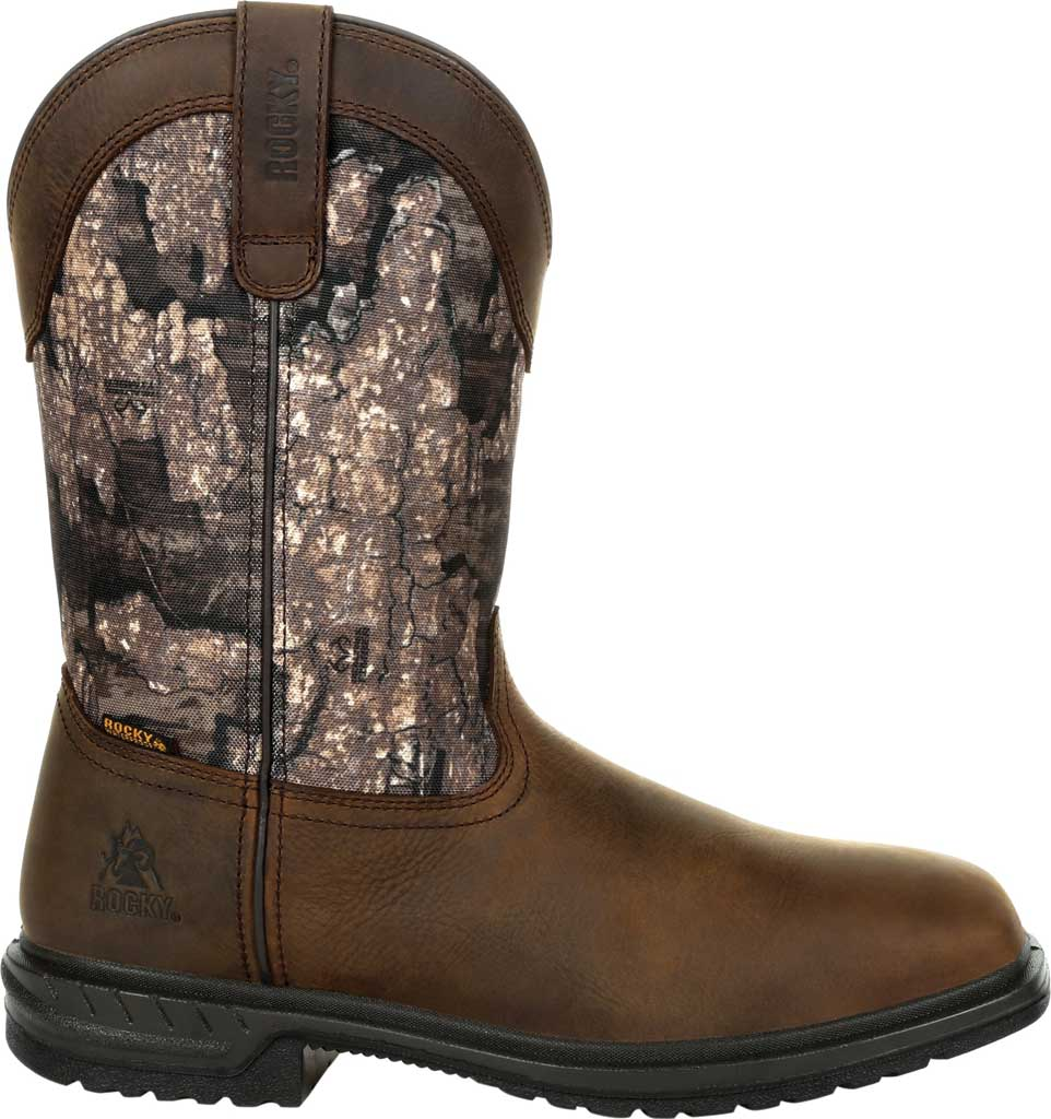 Men's Rocky Worksmart Insulated WP Western Boot RKW0326, Realtree Timber Full Grain Leather, large, image 2