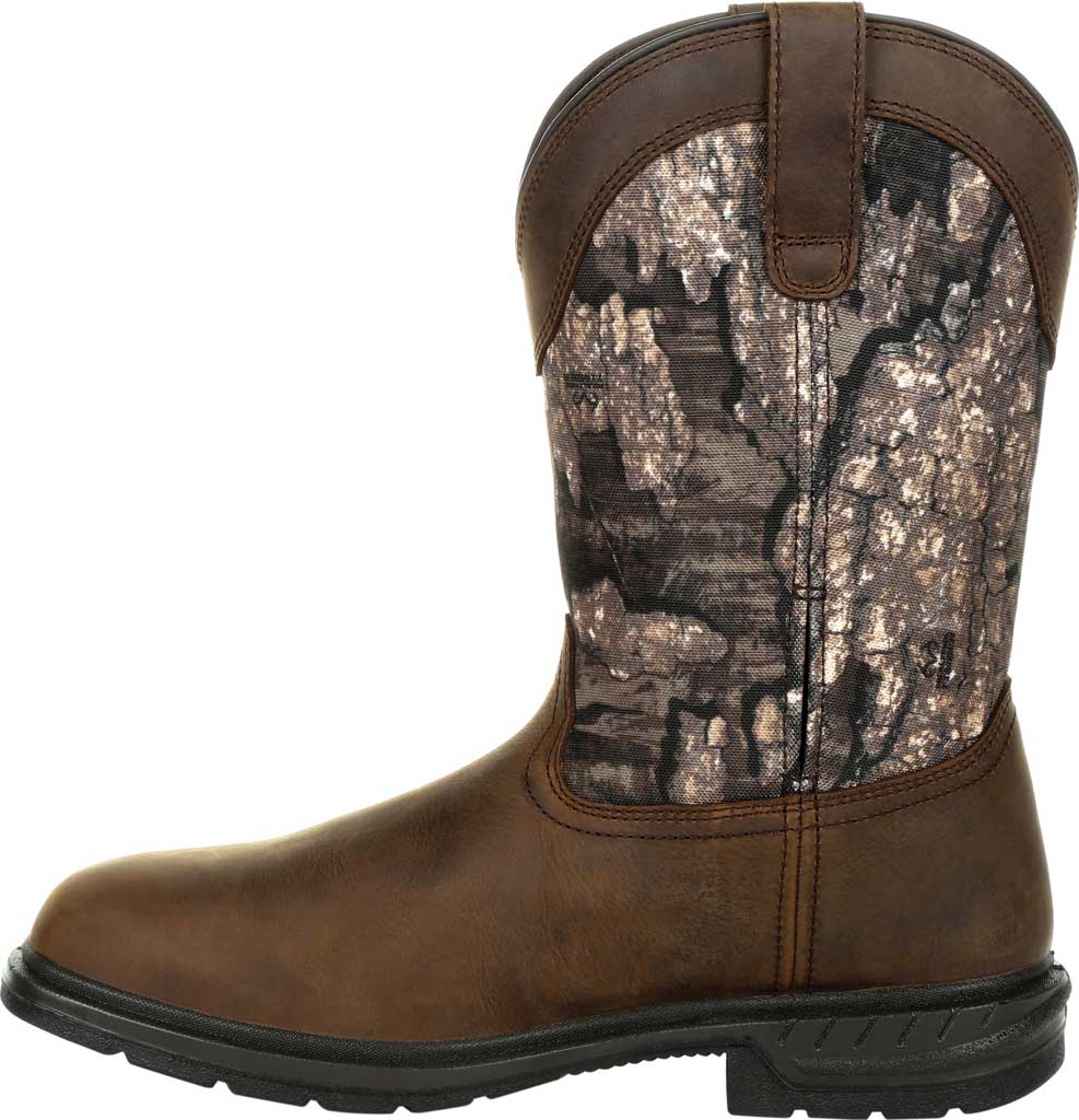 Men's Rocky Worksmart Insulated WP Western Boot RKW0326, Realtree Timber Full Grain Leather, large, image 3