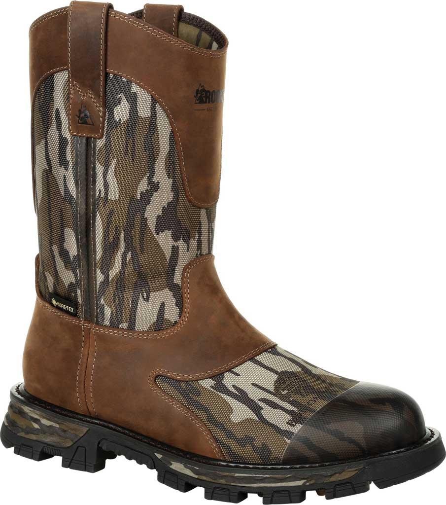 Men's Rocky Cornstalker NXT GTX WP Outdoor Boot RKS0467, Mossy Oak Bottom Land Cordura/Full Grain Leather, large, image 1
