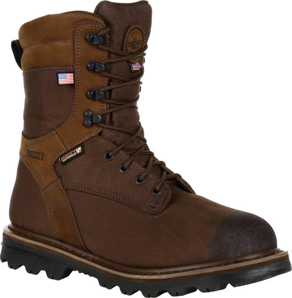 Men's Rocky Stalker Waterproof Insulated Outdoor Boot RKS0499, Brown Cordura/Leather, large, image 1