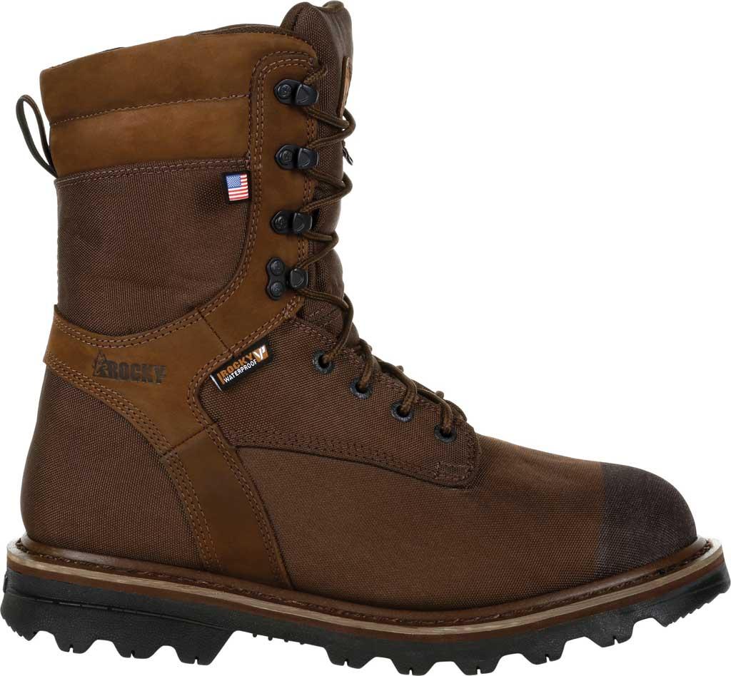 Men's Rocky Stalker Waterproof Insulated Outdoor Boot RKS0499, Brown Cordura/Leather, large, image 2