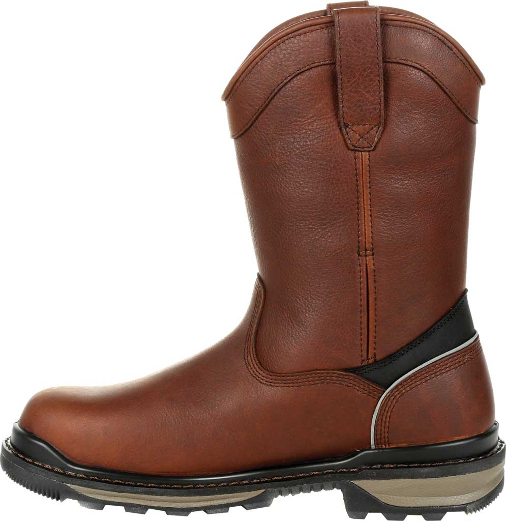 Men's Rocky Rams Horn Insulated WP CT Pull On Boot RKK0306, Dark Brown Full Grain Leather, large, image 3
