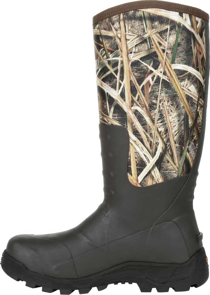 Men's Rocky Sport Pro Pull On Rubber Snake Boot RKS0478, Mossy Oak Shadow Grass Blades Rubber/Neoprene, large, image 3