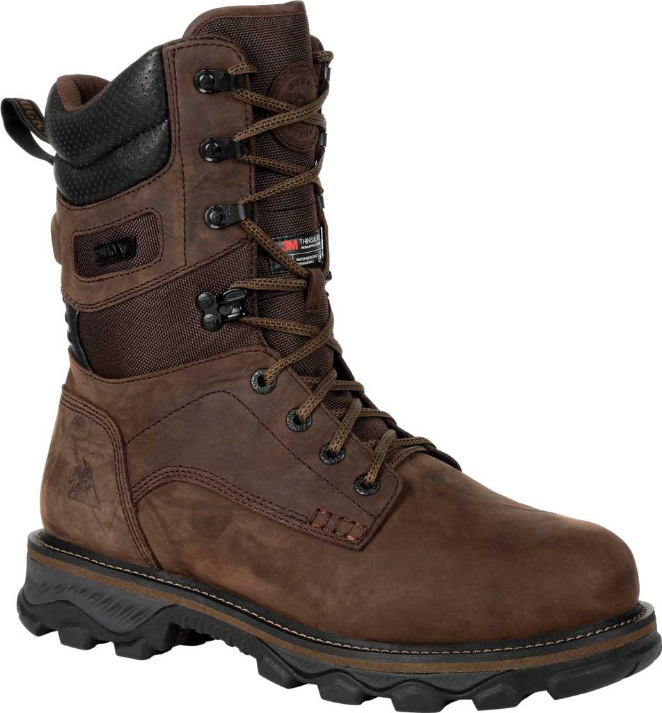 Men's Rocky MTN Stalker WP Insulated Outdoor Boot RKS0473, Bark Brown Full Grain Leather/Nylon, large, image 1