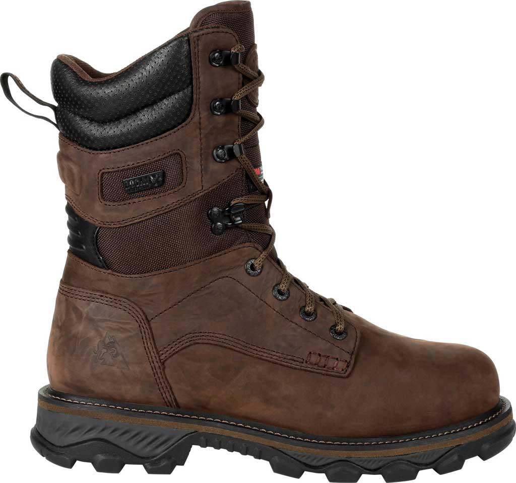 Men's Rocky MTN Stalker WP Insulated Outdoor Boot RKS0473, Bark Brown Full Grain Leather/Nylon, large, image 2