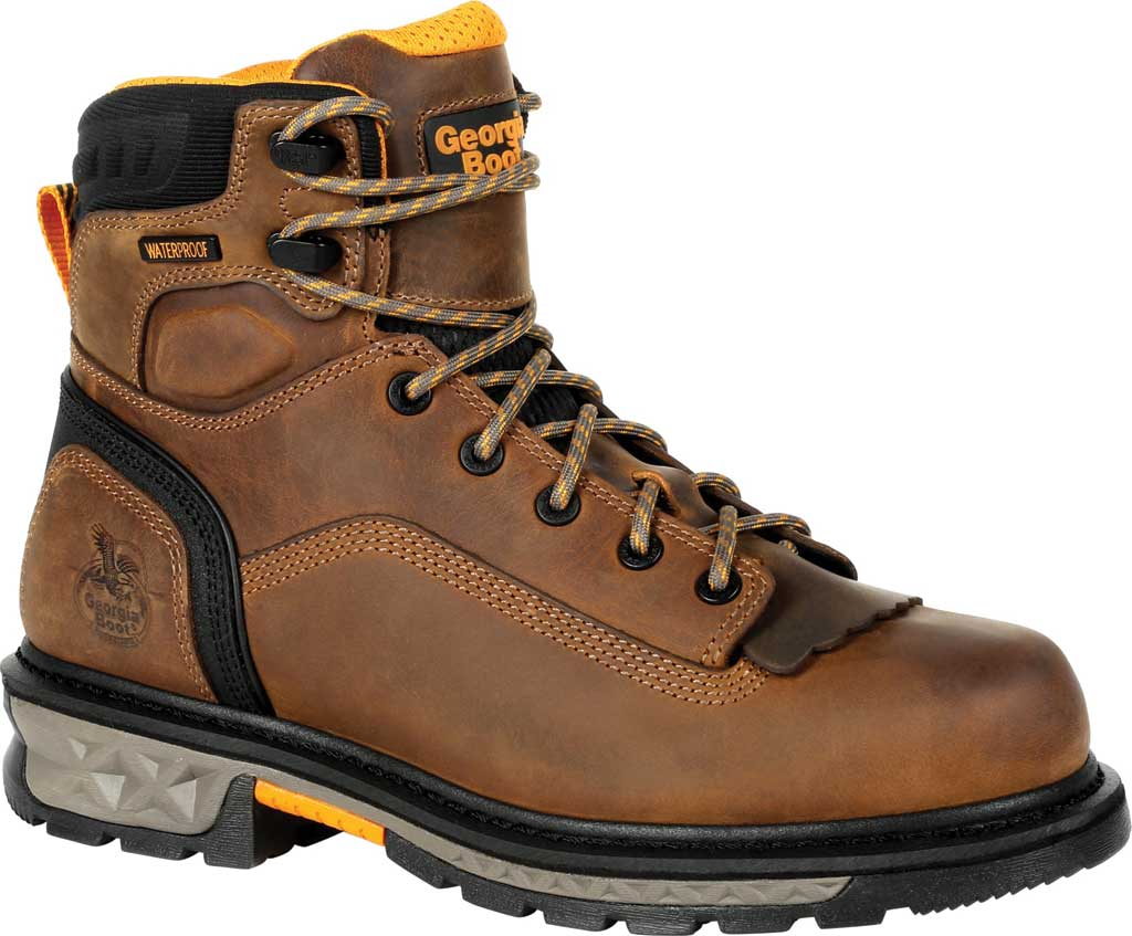 Men's Georgia Boot GB00390 Carbo-Tec LTX Waterproof Work Boot, Black/Brown Full Grain Leather, large, image 1