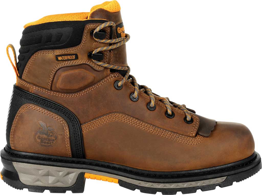 Men's Georgia Boot GB00390 Carbo-Tec LTX Waterproof Work Boot, Black/Brown Full Grain Leather, large, image 2