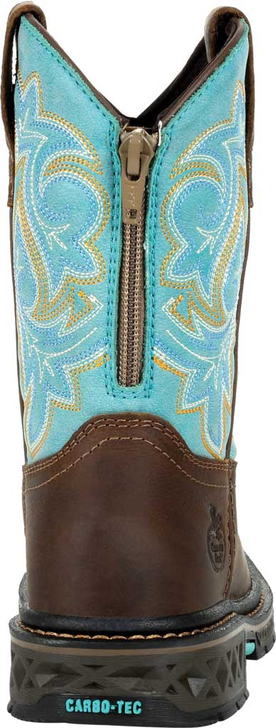 Children's Georgia Boot GB00410Y Carbo-Tec LT Big Kid Pull On Boot, Brown/Turquoise Full Grain Leather/Synthetic, large, image 4