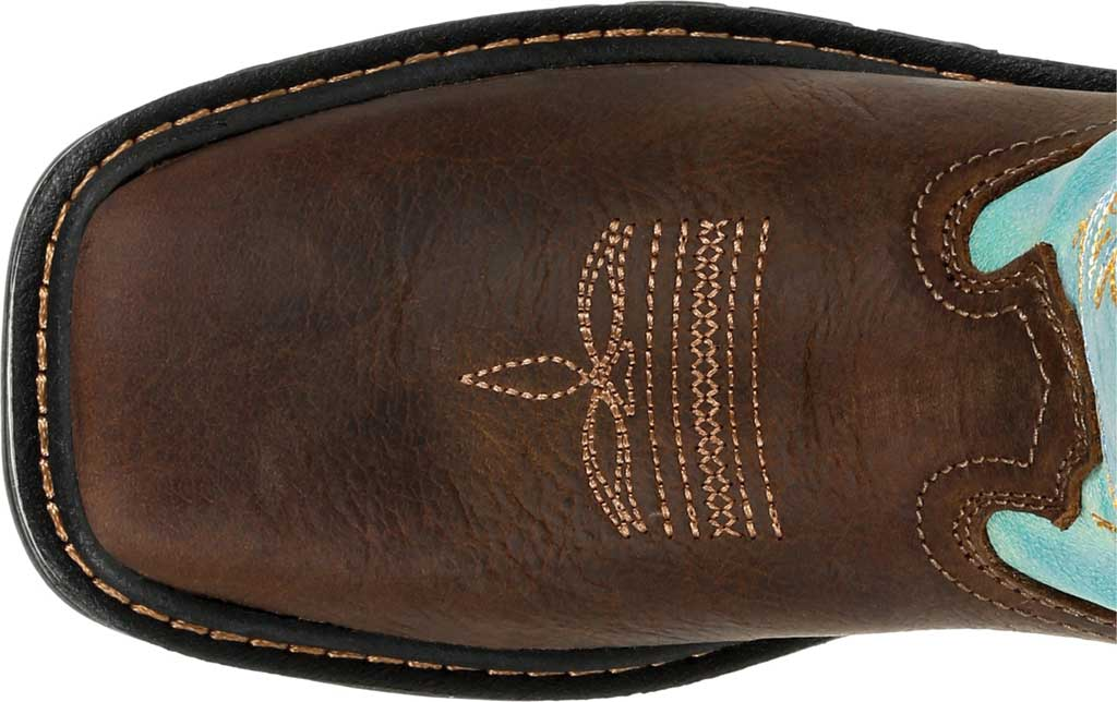 Children's Georgia Boot GB00410Y Carbo-Tec LT Big Kid Pull On Boot, Brown/Turquoise Full Grain Leather/Synthetic, large, image 5