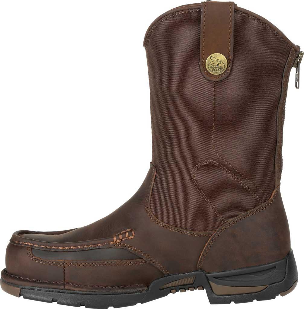 Men's Georgia Boot GB00366 Athens Waterproof Pull On Work Boot, Dark Brown Full Grain Leather/Nylon, large, image 3
