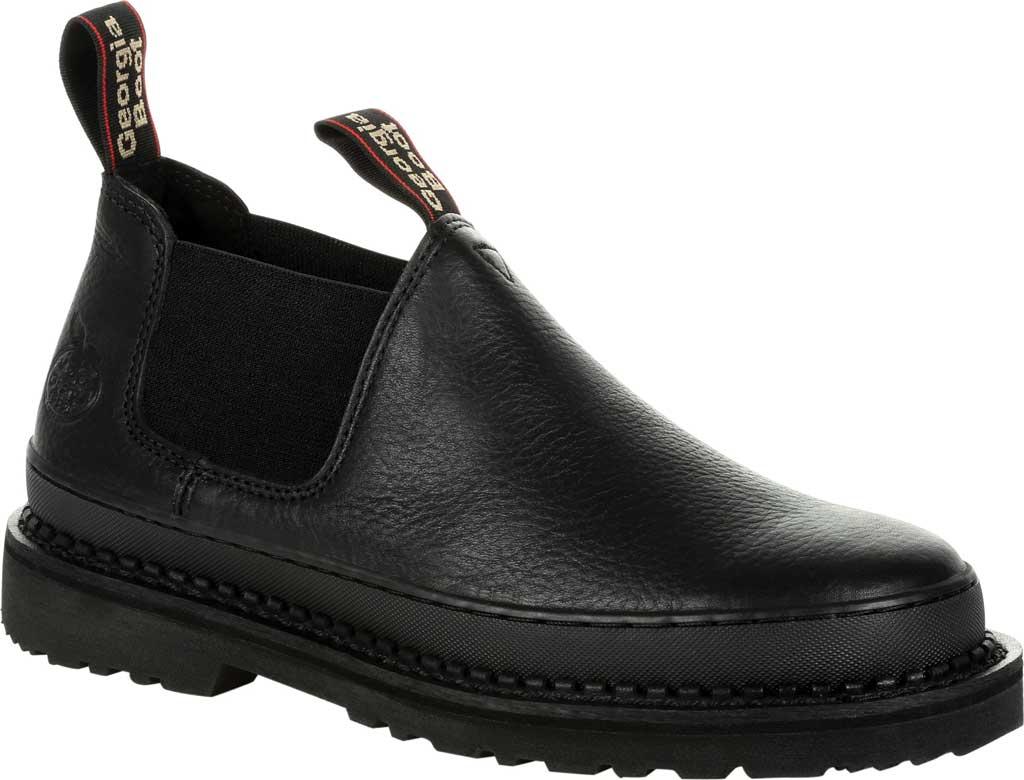 Men's Georgia Boot GB00384 Georgia Giant Revamp Romeo Work Shoe, Black Full Grain Leather, large, image 1