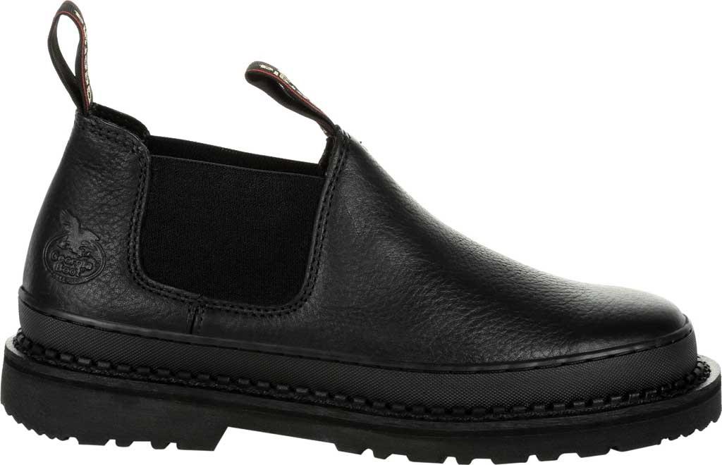 Men's Georgia Boot GB00384 Georgia Giant Revamp Romeo Work Shoe, Black Full Grain Leather, large, image 2