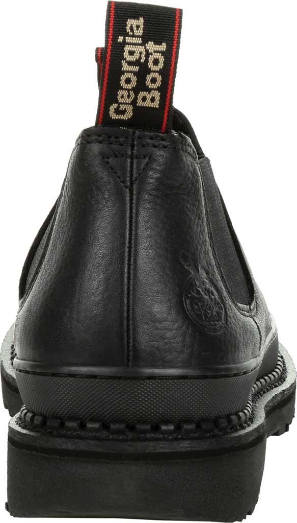 Men's Georgia Boot GB00384 Georgia Giant Revamp Romeo Work Shoe, Black Full Grain Leather, large, image 4
