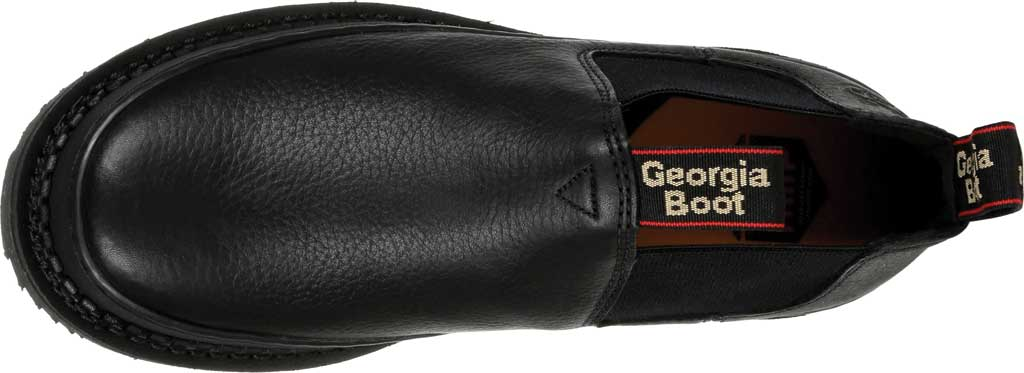 Men's Georgia Boot GB00384 Georgia Giant Revamp Romeo Work Shoe, Black Full Grain Leather, large, image 5