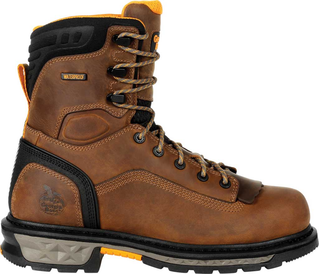 Men's Georgia Boot GB00392 Carbo-Tec LTX Waterproof Work Boot, Black/Brown Full Grain Leather, large, image 2