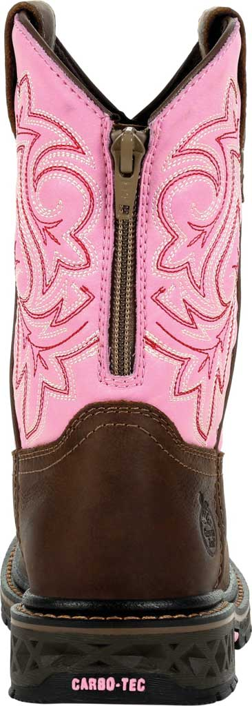 Children's Georgia Boot GB00411Y Carbo-Tec LT Big Kid Pull On Boot, Brown/Pink Full Grain Leather/Synthetic, large, image 4
