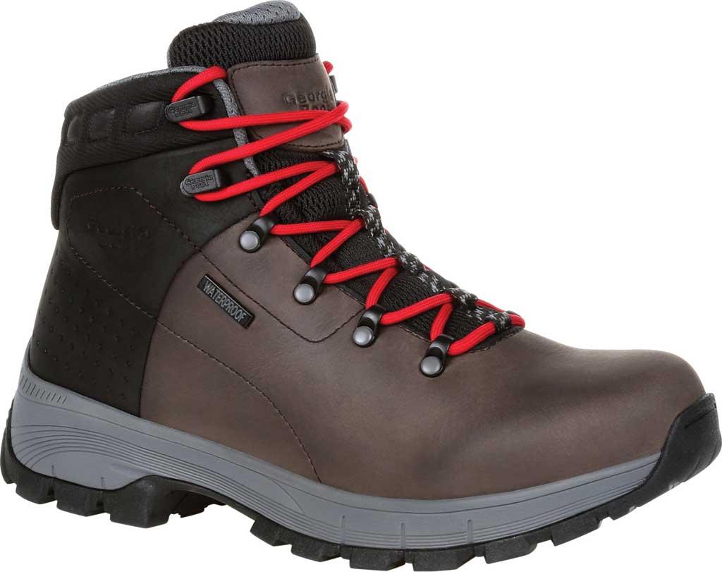 Men's Georgia Boot GB00399 Eagle Trail Waterproof Hiker Work Boot, Black/Charcoal Full Grain Leather, large, image 1