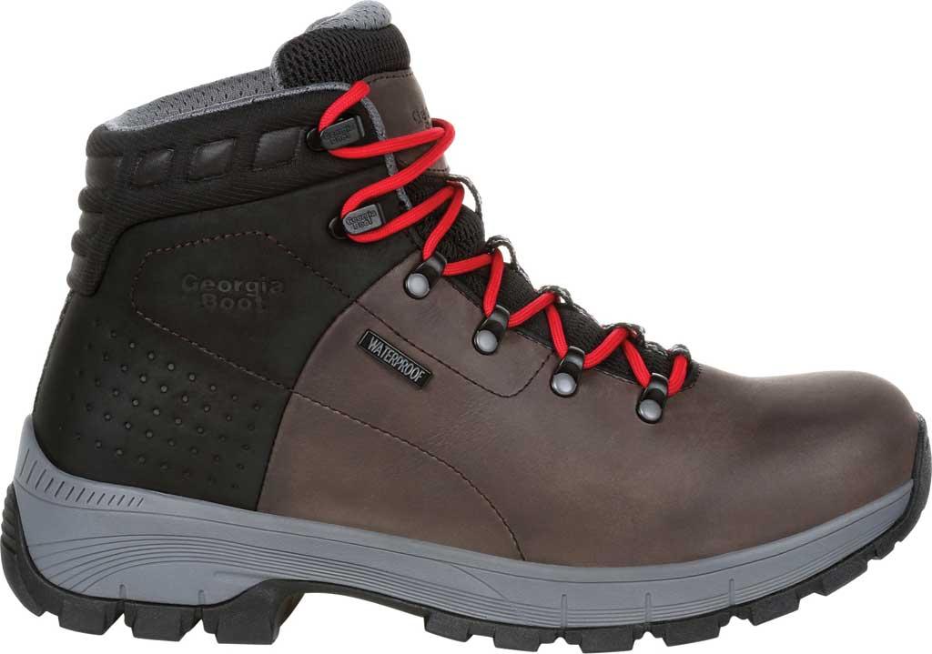 Men's Georgia Boot GB00399 Eagle Trail Waterproof Hiker Work Boot, Black/Charcoal Full Grain Leather, large, image 2