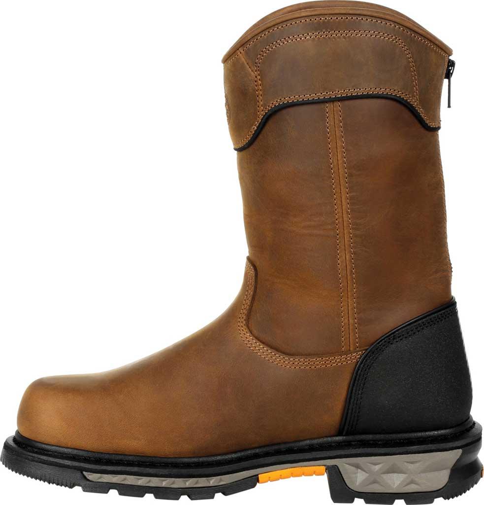 Men's Georgia Boot GB00393 Carbo-Tec LTX Waterproof Pull On Work Boot, Black/Brown Full Grain Leather, large, image 3