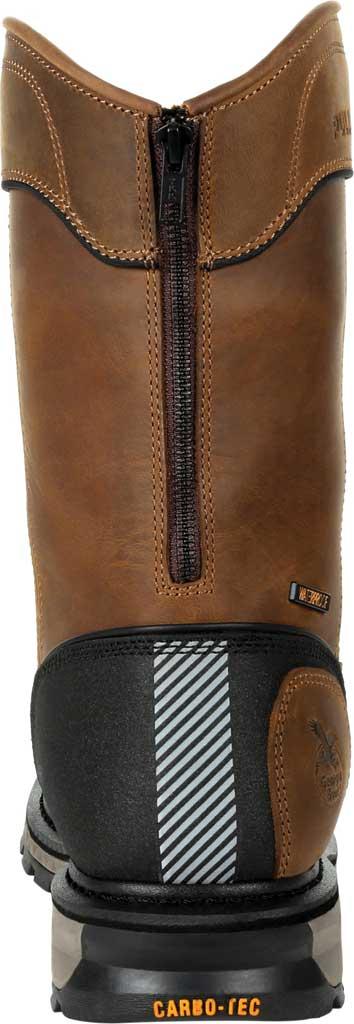 Men's Georgia Boot GB00393 Carbo-Tec LTX Waterproof Pull On Work Boot, Black/Brown Full Grain Leather, large, image 4
