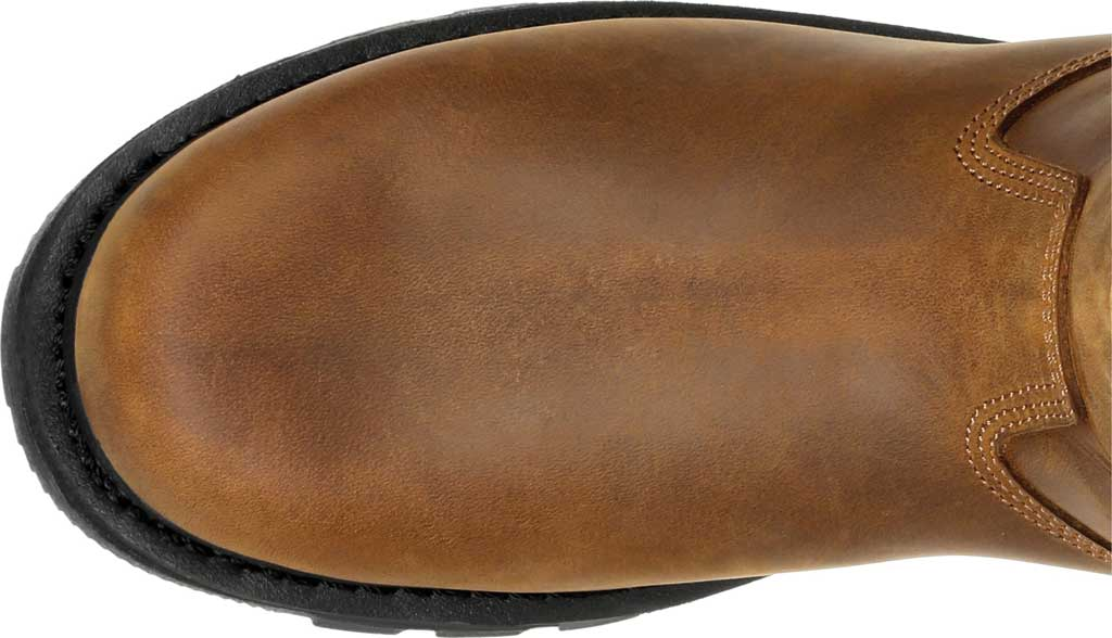 Men's Georgia Boot GB00393 Carbo-Tec LTX Waterproof Pull On Work Boot, Black/Brown Full Grain Leather, large, image 5