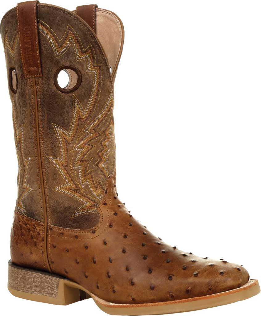 Men's Durango Boot DDB0307 Rebel Pro Full-Quill Ostrich Western Boot, Tobacco Ostrich Quill/Full Grain Leather, large, image 1