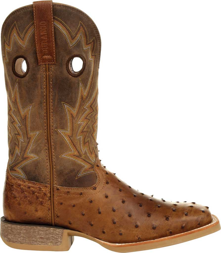 Men's Durango Boot DDB0307 Rebel Pro Full-Quill Ostrich Western Boot, Tobacco Ostrich Quill/Full Grain Leather, large, image 2