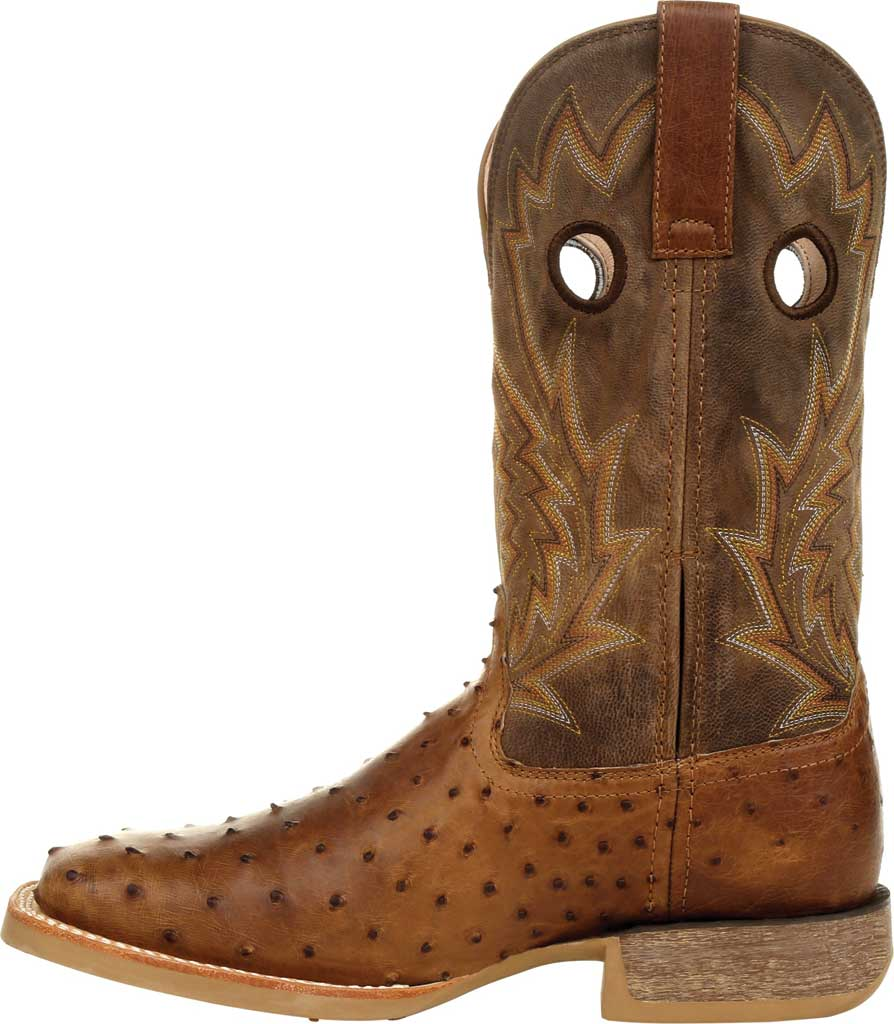 Men's Durango Boot DDB0307 Rebel Pro Full-Quill Ostrich Western Boot, Tobacco Ostrich Quill/Full Grain Leather, large, image 3