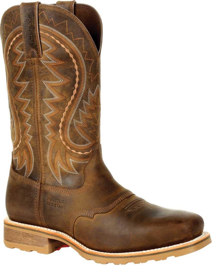 Men's Durango Boot DDB0297 Maverick Pro Steel Toe WP Western Boot, Rugged Tan Full Grain Leather, large, image 1