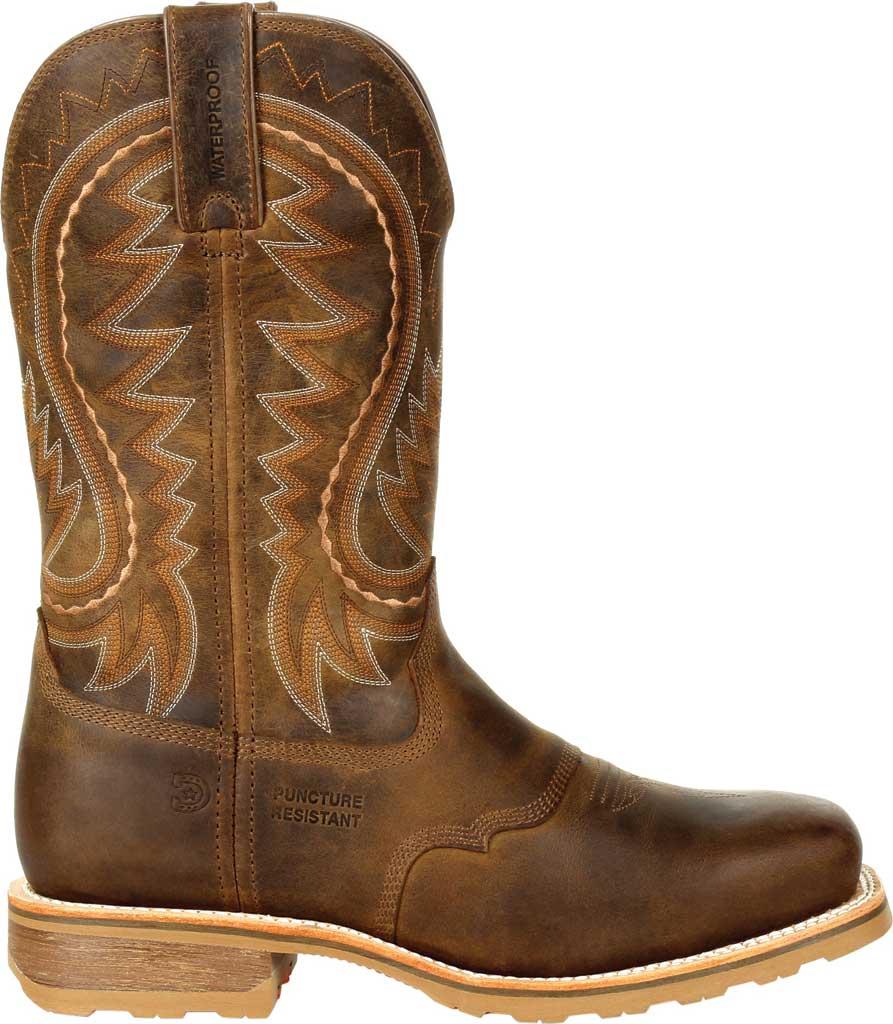 Men's Durango Boot DDB0297 Maverick Pro Steel Toe WP Western Boot, Rugged Tan Full Grain Leather, large, image 2
