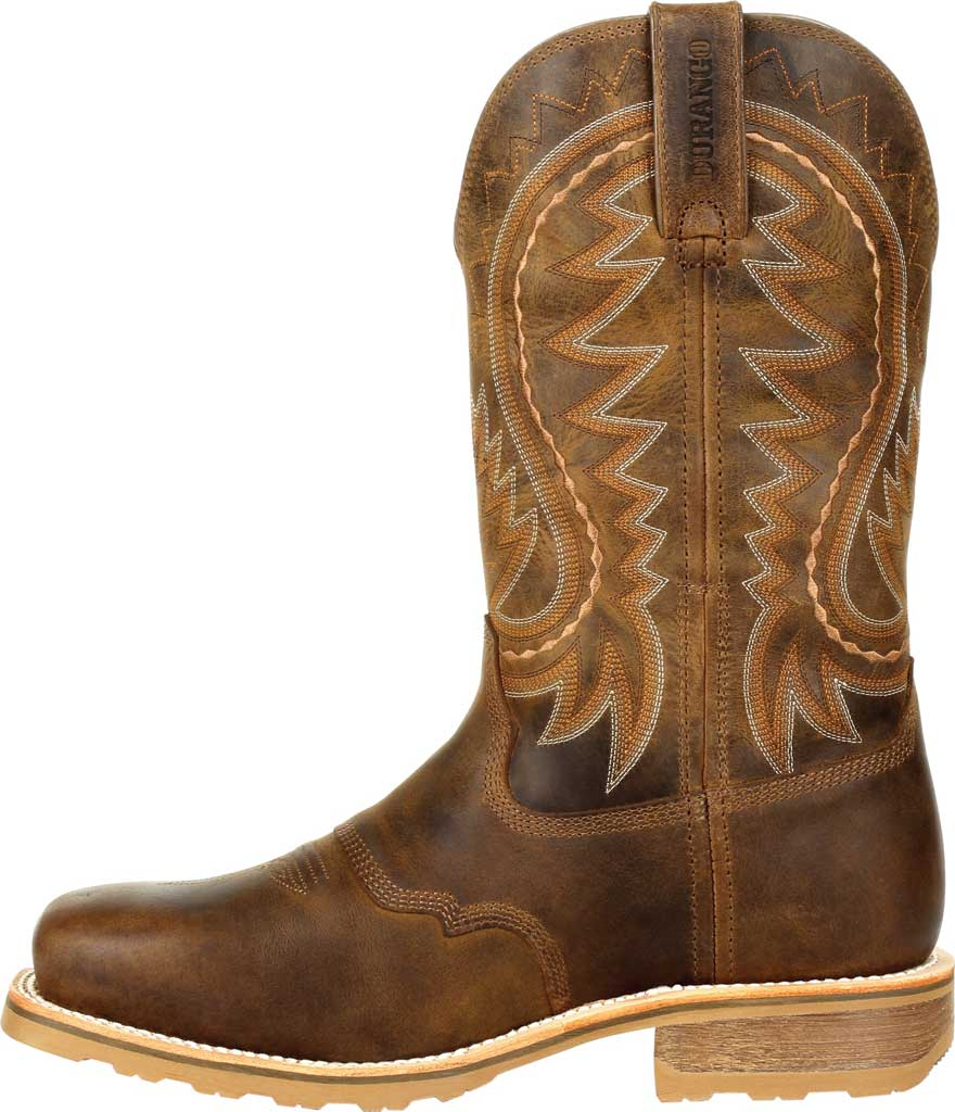 Men's Durango Boot DDB0297 Maverick Pro Steel Toe WP Western Boot, Rugged Tan Full Grain Leather, large, image 3