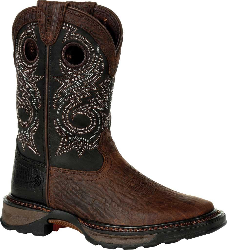 Children's Durango Boot DBT0228C Lil' Maverick XP Little Kid Western Boot, Dark Bay/Burnt Orange Synthetic/Full Grain Leather, large, image 1