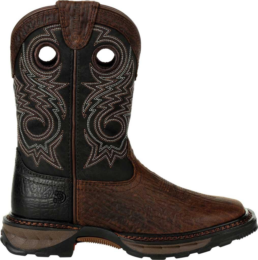Children's Durango Boot DBT0228C Lil' Maverick XP Little Kid Western Boot, Dark Bay/Burnt Orange Synthetic/Full Grain Leather, large, image 2