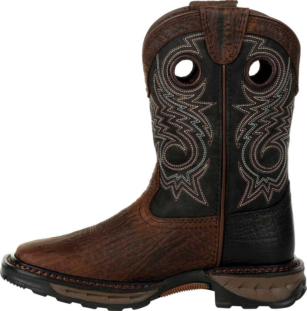 Children's Durango Boot DBT0228C Lil' Maverick XP Little Kid Western Boot, Dark Bay/Burnt Orange Synthetic/Full Grain Leather, large, image 3